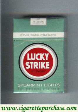 Discount Lucky Strike Spearmint Lights cigarettes hard box