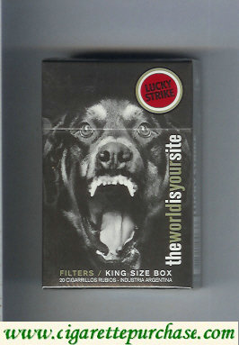 Discount Lucky Strike TheWorldIsYourSite Filters King Size Box hard box cigarettes