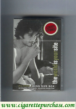Discount Lucky Strike TheWorldIsYourSite Filters hard box cigarettes