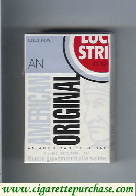 Discount Lucky Strike Ultra An American Original cigarettes hard box