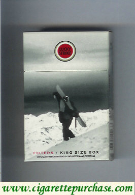 Discount Lucky Strike cigarettes Snowpacks hard box