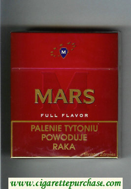 M Mars Full Flavor 25s cigarettes hard box