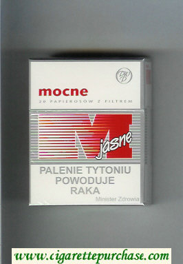 M Mocne Jasne cigarettes hard box