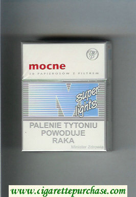 M Mocne Super Lights cigarettes hard box