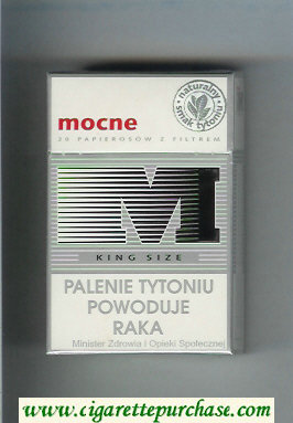 M Mocne cigarettes hard box