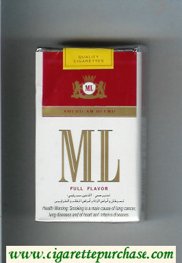 ML American Blend Full Flavor cigarettes soft box