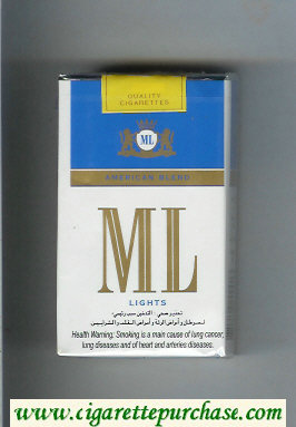 ML American Blend Lights cigarettes soft box