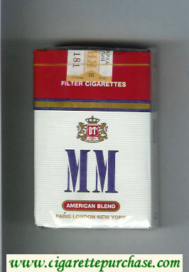 MM American Blend white and red cigarettes soft box