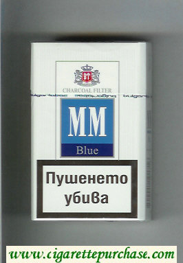 MM Blue Charcoal Filter cigarettes hard box