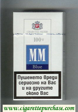 MM Blue Charcoal Filter 100s cigarettes hard box