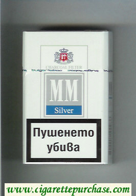 MM Silver Charcoal Filter cigarettes hard box