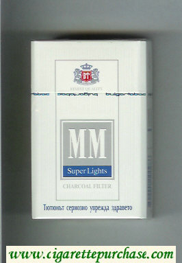 MM Super Lights Charcoal Filter cigarettes hard box