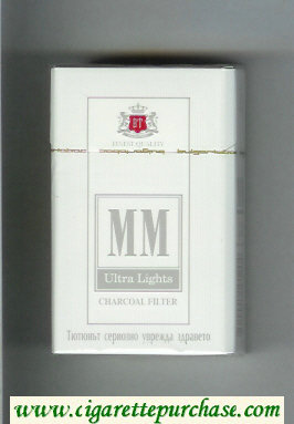 MM Ultra Lights Charcoal Filter cigarettes hard box