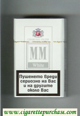 MM White Charcoal Filter cigarettes hard box