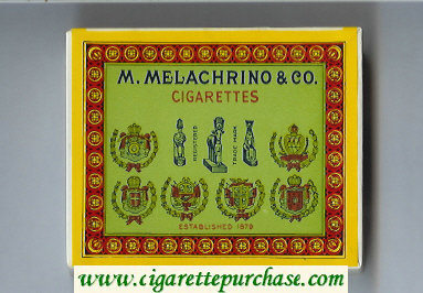 M.Melachrino and Co.Cigarettes wide flat hard box