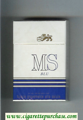 MS Blu hard box cigarettes