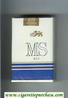 Discount MS Blu soft box cigarettes
