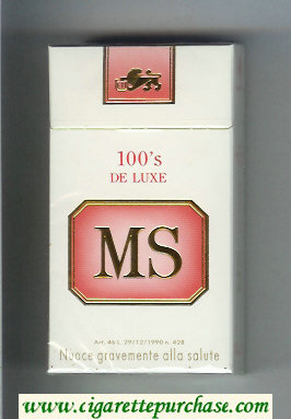 Discount MS 100s De Luxe cigarettes hard box