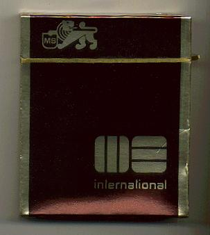 MS International 100s cigarettes wide flat hard box