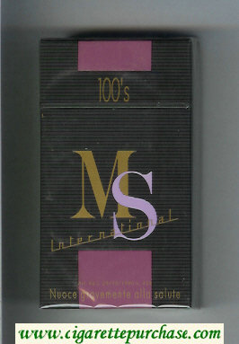 Discount MS Internetional 100s cigarettes hard box