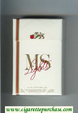MS Lights cigarettes hard box