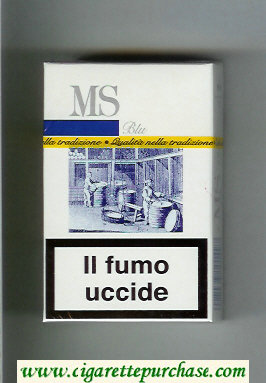 MS Blu cigarettes hard box