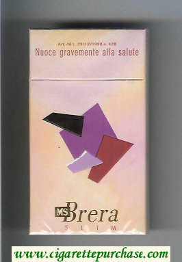 MS Brera Slim 100s cigarettes hard box