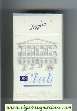 MS Club Slim Leggera 100s cigarettes hard box