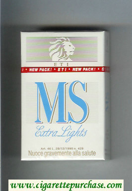 MS ETI Extra Lights cigarettes hard box