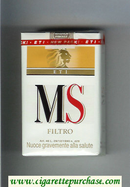 MS ETI Filtro cigarettes soft box