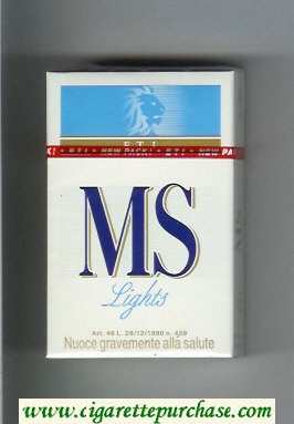 MS ETI Lights cigarettes hard box