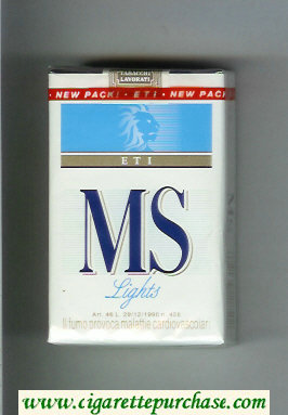 MS ETI Lights cigarettes soft box