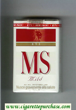 MS ETI Mild cigarettes soft box
