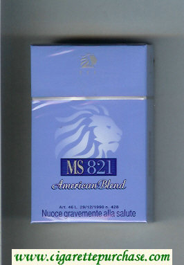 MS ETI 821 American Blend cigarettes hard box