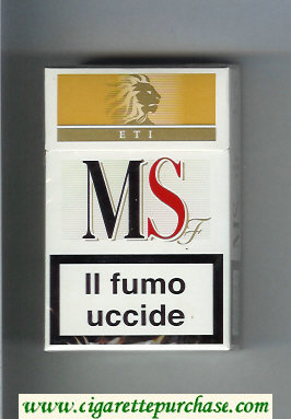 MS ETI F cigarettes hard box