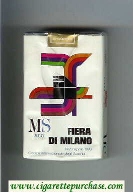 Discount MS Fiera Di Milano 1978 Blu cigarettes soft box