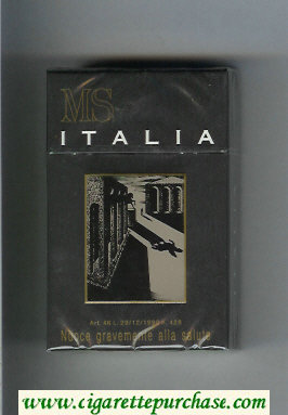 MS Italia cigarettes hard box