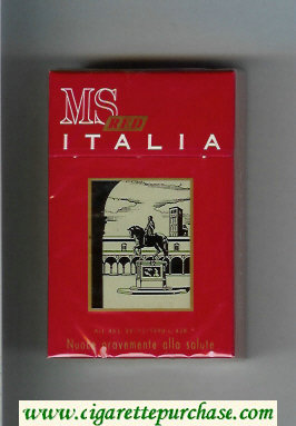 Discount MS Italia Red cigarettes hard box