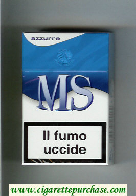 MS Messis Summa Azurre cigarettes hard box