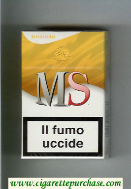 MS Messis Summa Bionde cigarettes hard box