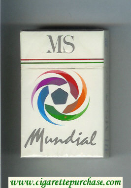 MS Mundial cigarettes hard box