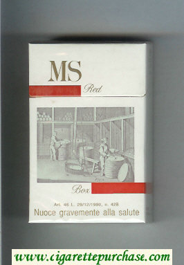 MS Red cigarettes hard box
