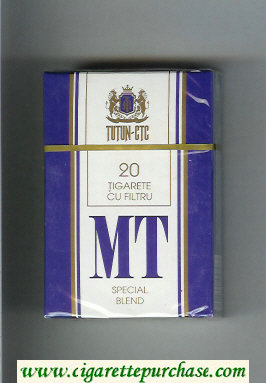 MT Special Blend white and blue cigarettes hard box