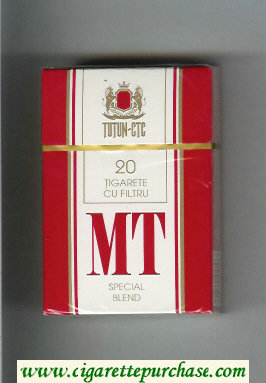 MT Special Blend white and red cigarettes hard box