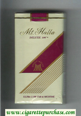 Mt.Halla Deluxe 100s cigarettes soft box