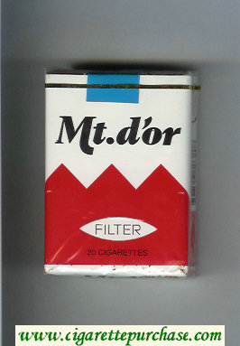 Mt.d'or Filter cigarettes soft box