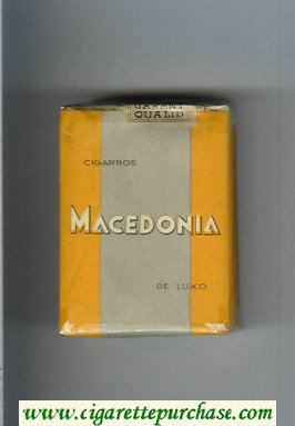 Macedonia Cigarros De Luxo cigarettes soft box