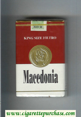 Macedonia King Size Filtro cigarettes soft box