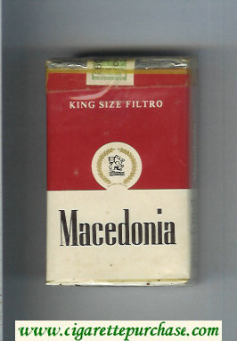 Macedonia King Size Filtro soft box cigarettes