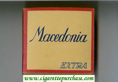 Macedonia Extra cigarettes wide flat hard box